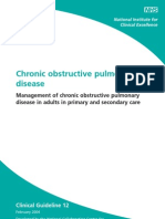 Chronic Obstructive Pulmonary Nice Guideline