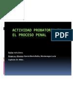 """Final de """"La actividad probatoria en el proceso penal"""""""