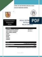 Agua, Distribucion y Patologias