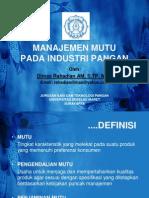 73728554 Manajemen Mutu Dalam Industri Pangan