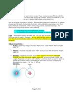 Bio H Basic Chemistry Notes