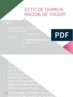 Presentacion Del Proyecto de Quimica Organica Yogurt
