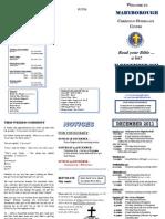 Newsletter 11 Dec 2011