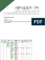 Test Case Sample