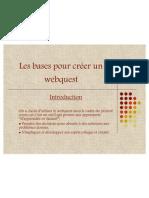 Volet WEBQUEST exemple d'activité