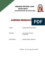 Competencias Profesionales Del Psicologo