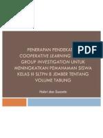 Penerapan Pendekatan Cooperative Learning Model Group Investigation Untuk