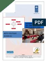 Détermination de l'indice de la société civile - Note politique (PNUD, CIVICUS, MSIS, CNPC - 2011)