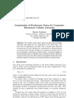 Burton Voorhees- Computation of Predecessor States for Composite Elementary Cellular Automata