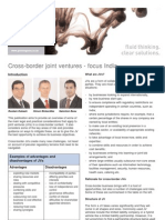 Cross-Border Joint Ventures - Focus India
