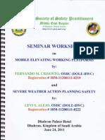 Mobile Working Platforms