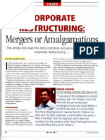 Corporate Restructuring - Mergers or Amalgamations