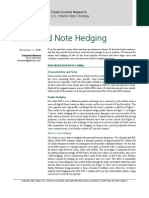 Structured Note Hedgeing