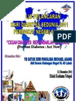 Aturcara Majlis Hari Diabetes Sedunia 2011 Peringkat Negeri Sabah