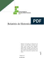Relatório de eletrotecnica