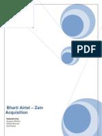 Airtel Zain Acquisition