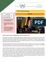 OTP Weekly Briefing 22 November - 28 November 2011 #105