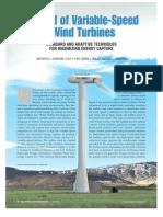 Control of Variable-speed Wind Turbines
