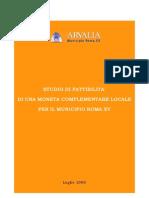 Studio di fattibilita di una moneta complementare locale per il Municipio Roma XV – Arvalia