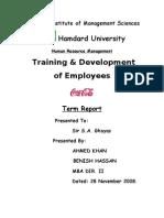 Training and Dev Report, Hamdard Uni