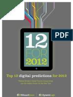 12 Digital Predictions for 2012 Millward-Brown