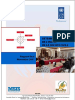 Détermination de l'indice de la société civile - Rapport final (PNUD, CIVICUS, MSIS, CNPC - 2011)