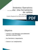 Procedimientos Operativos Estandar
