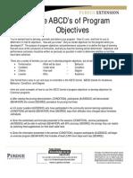 ABCD Program Objectives