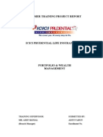 Portfolio & Wealth Management at Icici Prudential Life Insur Final