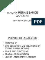 Italian Renaissance Gardens