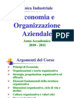 Economia e Organizzazione Aziendale a.a. 2010-2011