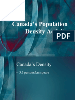Canada's Population Density Activity