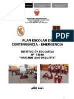 Plan Escolar de cia de IE 2011