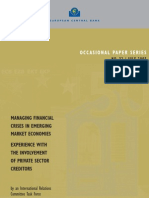 Managing Financial Crisis in Emerging Market Economy