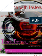 Tea Time+With+Testers+May+2011++Year+1++Issue+IV