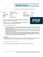 CFG - Cadastro de Usuário - Restrições de Acesso