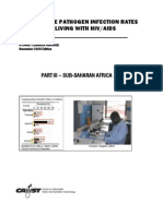 Waterborne Pathogen Infection Rates for Plwha Sub-saharan Africa[1]