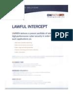 Onpath Technologies Lawful Intercept