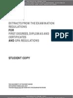 Exam and GPA Regulations