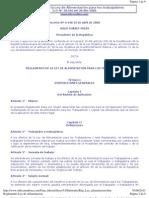 Reglamento de la Ley de Alimentación para los trabajadores