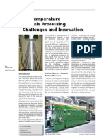 High Temperature Materials Processing Challenges and Innovations