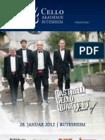 Rastrelli Cello Quartet Flyer Rutesheim
