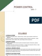 Fluid Power Control - Unit.1 (as PER SYLLABUS)