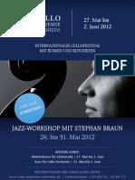 Plakat Jazz-Workshop mit Stephan Braun 2012