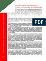 """Analisis del """"Cambio de Estatutos"""" y Propuestas para un Congreso de Estudiantes"""
