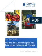 2011 Year End Report for BFBL/Food Stamp Enhancement Program
