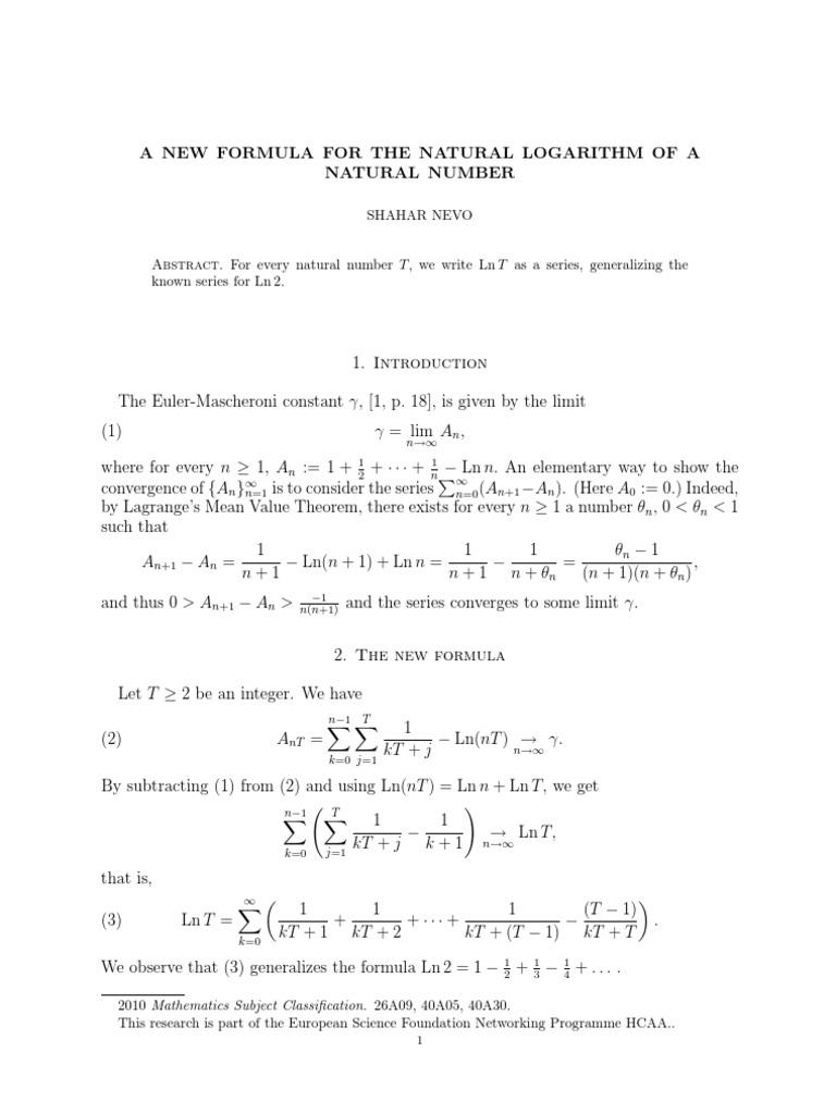 Nevo new formula discrete mathematics mathematical analysis sciox Choice Image