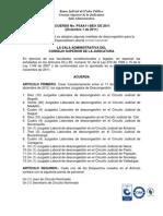 Acuerdo PSAA11-8831 Se Crean 10 Juzgados Laborales de Descongestion y Se Amplia Adjuntos 13 Al 16