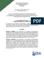Acuerdo PSAA11-8938 Prorroga descongestión Juzgados Administrativos jun 30 2012 Valle del Cauca