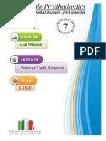 Anterior Teeth Selection Prosthpo Lec 7